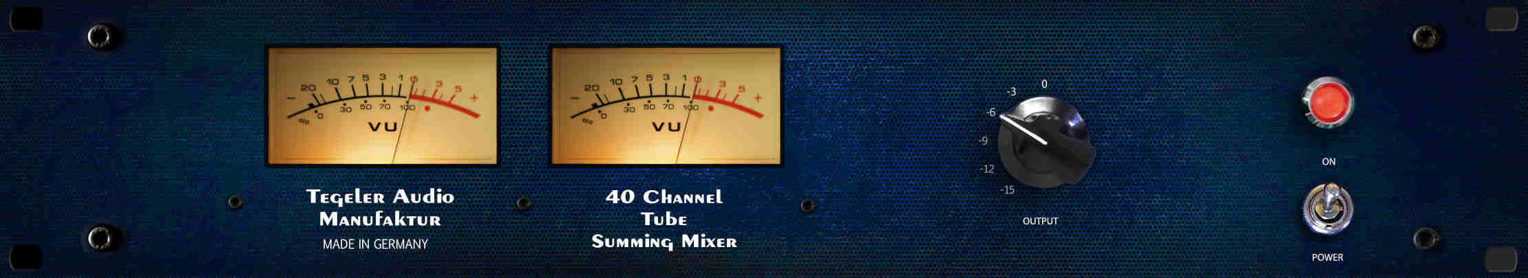 TSM Tube Summing Mixer Frontpanel